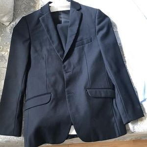 Boys Navy Suit and Shirt Size 12